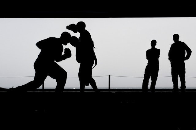 boxing training workout silhouettes 39582